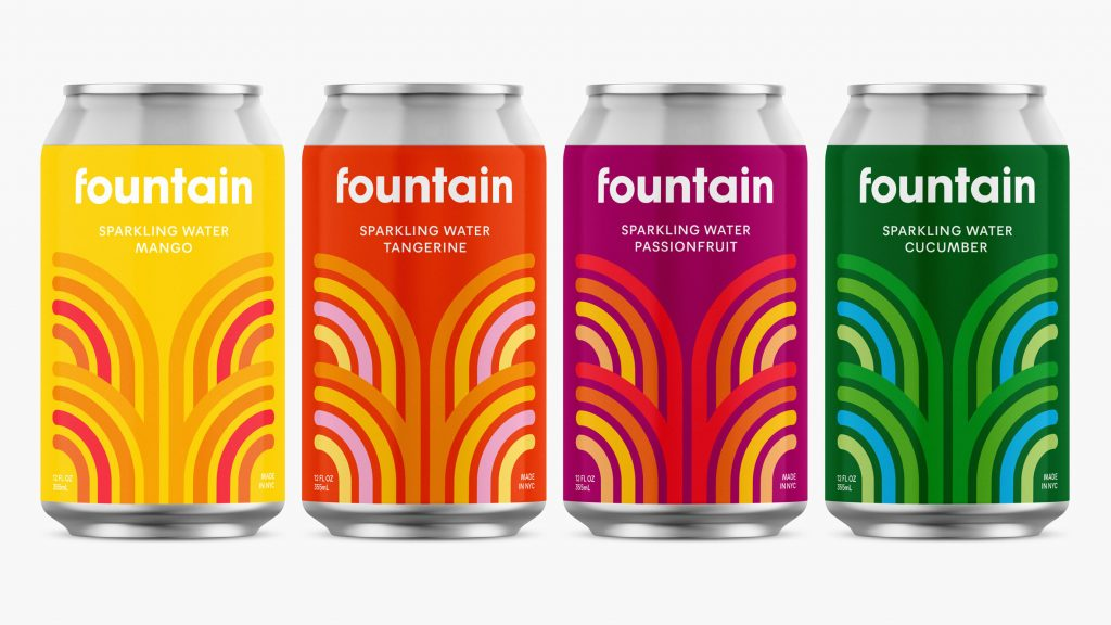 "Pentagram creates branding for CBD gleaming drink Fountain to ""stick out"""