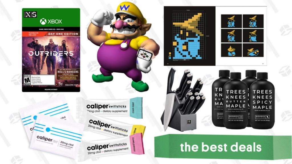 Friday's Best Deals: Apple Watch SE, Outriders for Xbox, Henckels Knife Set, Caliper CBD Powder, Final Fantasy Pixel Art Book, and More